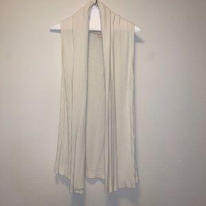 Cream Draping Sweater Vest